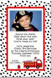Design online, download jpg immediately DIY girls fireman party birthday Invitations
