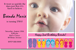 Design online, download jpg immediately DIY flip flop party birthday Invitations