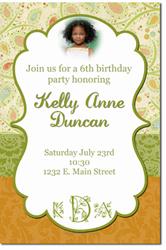 Design online, download jpg immediately DIY flower birthday party Invitations