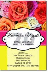 Design online, download jpg immediately DIY flower bouquet birthday party invitations