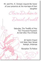 Design online, download jpg immediately DIY flower wedding invitations