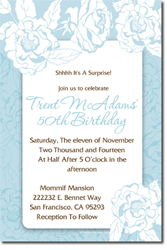 Design online, download jpg immediately DIY flower floral birthday party invitations