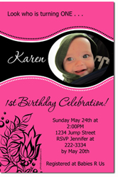 Design online, download jpg immediately DIY flower birthday party Invitations