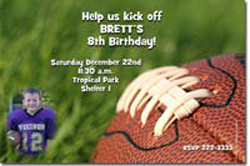 Design online, download jpg immediately DIY football party birthday invitations