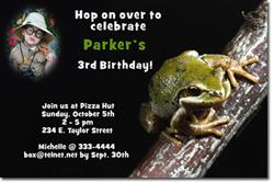 Design online, download jpg immediately DIY frog prince birthday Invitations