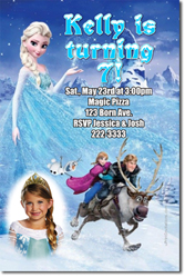 Design online, download jpg immediately DIY frozen the movie party birthday Invitations