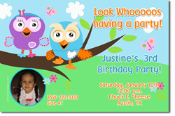 Design online, download jpg immediately DIY giggle and hoot hootabelle party birthday Invitations