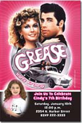 Design online, download jpg immediately DIY grease party birthday Invitations