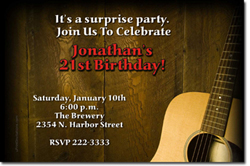Design online, download jpg immediately DIY guitar birthday party invitations