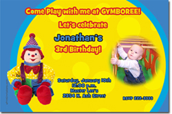 Design online, download jpg immediately DIY gymboree birthday Invitations