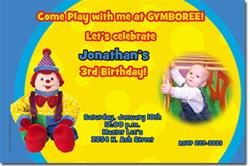 Design online, download jpg immediately DIY gymboree birthday Invitations
