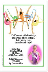 Design online, download jpg immediately DIY gymnastics party birthday Invitations