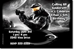 Design online, download jpg immediately DIY halo birthday Invitations