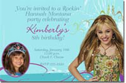 Design online, download jpg immediately DIY hanna montana party birthday Invitations