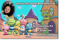 Design online, download jpg immediately DIY henry hugglemonster party birthday Invitations