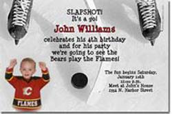 Design online, download jpg immediately DIY hockey birthday Invitations