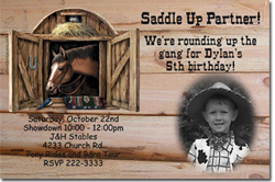 Design online, download jpg immediately DIY horse birthday Invitations