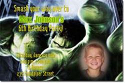 Design online, download jpg immediately DIY hulk birthday Invitations