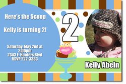 Design online, download jpg immediately DIY ice cream birthday Invitations