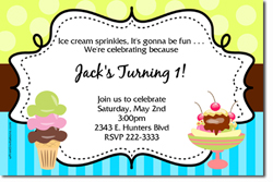 Design online, download jpg immediately DIY ice cream social birthday Invitations
