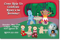 Design online, download jpg immediately DIY in the night garden party birthday Invitations
