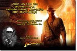 Design online, download jpg immediately DIY indiana jones birthday Invitations