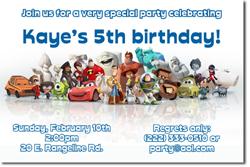 Design online, download jpg immediately DIY infinity birthday Invitations