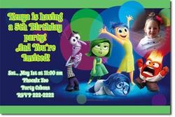 Design online, download jpg immediately DIY inside out movie birthday Invitations