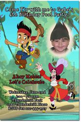 Design online, download jpg immediately DIY jake and the neverland pirates birthday Invitations