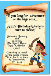 Design Online Download Jpg Immediately DIY Jake And The Neverland Pirates Party Birthday Invitations