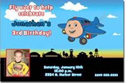 Design online, download jpg immediately DIY jay jay the jet plane birthday Invitations