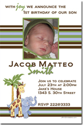 Design online, download jpg immediately DIY jungle feverparty birthday Invitations