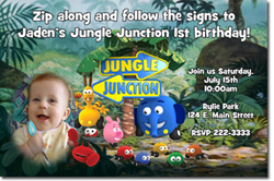 Design online, download jpg immediately DIY jungle junction party birthday Invitations