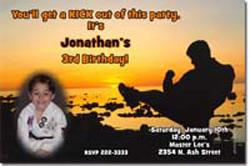 Design online, download jpg immediately DIY karate party birthday Invitations
