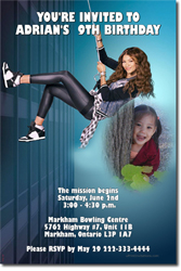 Design online, download jpg immediately DIY KC Undercover Spy Ops party birthday Invitations