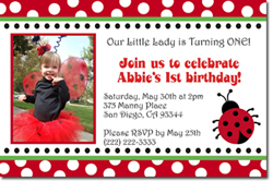 Design online, download jpg immediately DIY ladybug party birthday Invitations