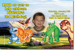 Design online, download jpg immediately DIY land before time party birthday Invitations