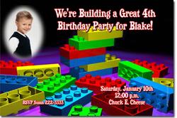 Design online, download jpg immediately DIY lego party birthday Invitations