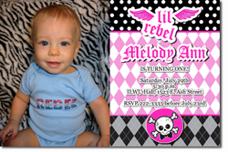 Design online, download jpg immediately DIY lil rebel pink party birthday Invitations