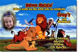 Design online, download jpg immediately DIY lion king party birthday Invitations
