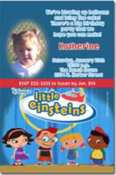 Design online, download jpg immediately DIY little einsteins party birthday Invitations