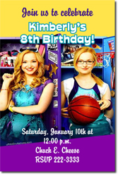 Design online, download jpg immediately DIY liv and maddie birthday Invitations