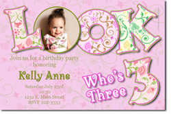 Design online, download jpg immediately DIY any age photo birthday party Invitations