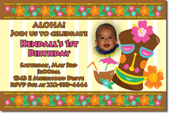 Design online, download jpg immediately DIY luau digital download party birthday Invitations
