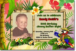 Design online, download jpg immediately DIY jimmy buffett party birthday invitations