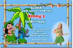 Design online, download jpg immediately DIY luau lilo and stitch party birthday Invitations