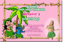 Design online, download jpg immediately DIY lilo and stitch luau party birthday Invitations