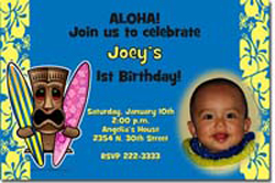 Design online, download jpg immediately DIY luau birthday party invitations