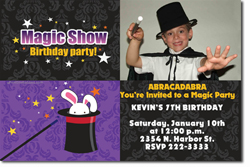 Design online, download jpg immediately magic DIY party birthday Invitations