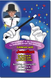 Design online, download jpg immediately DIY magic party birthday Invitations